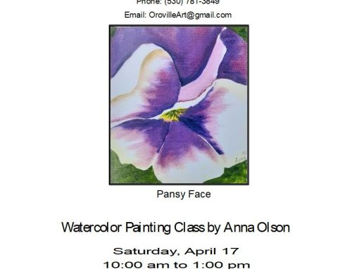 Water Color Painting Class By Anna Olson – Pansy Face